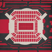 Raymond James Stadium - Tampa Bay Buccaneers City Print