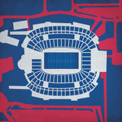 Gillette Stadium City Print
