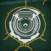 O.co Coliseum - Oakland Athletics City Print