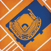 Minute Maid Park City Print