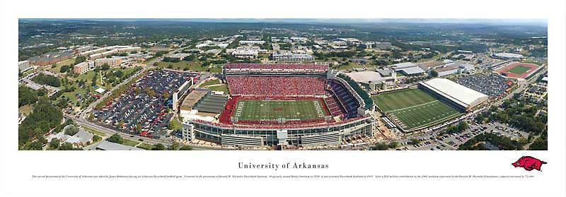 Arkansas Razorbacks at Razorback Stadium Panorama Poster