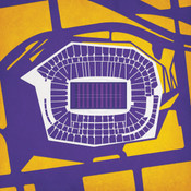 US Bank Stadium - Minnesota Vikings City Print