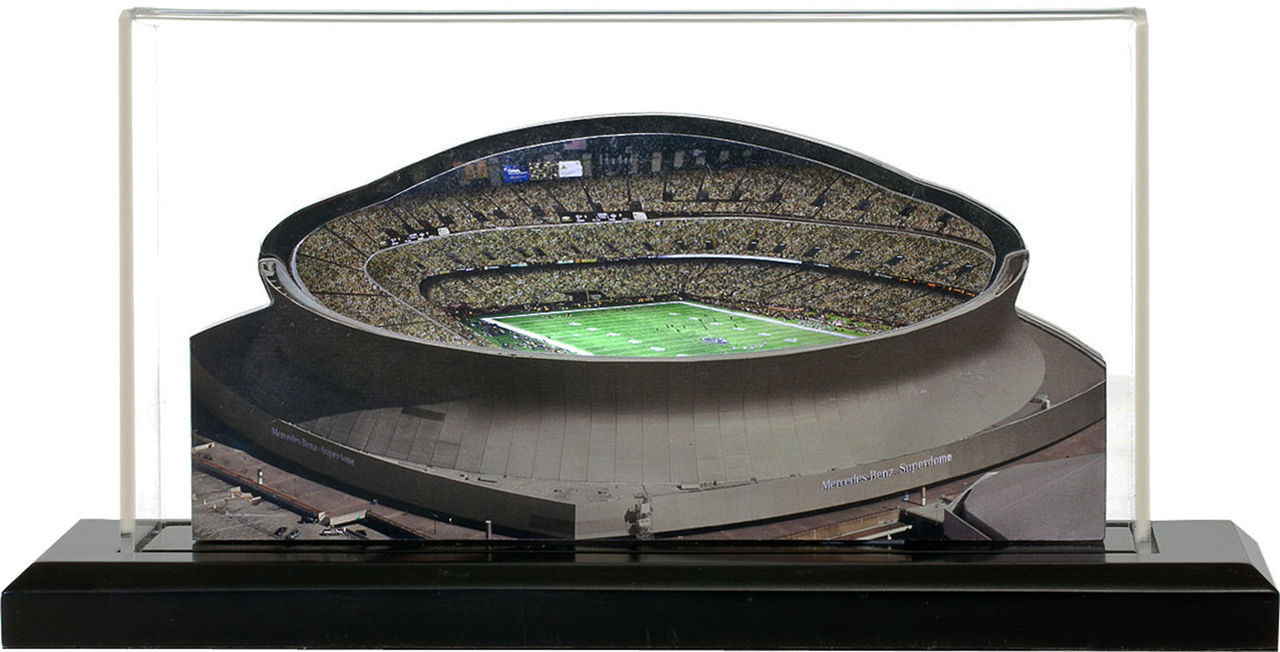 Superdome New Orleans Saints 3d Stadium Replica The