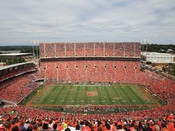 "Clemson Tigers ""Upper Deck Shot"" at Memorial Stadium Poster"
