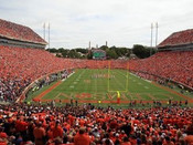 "Clemson Tigers ""Endzone"" at Memorial Stadium Poster"