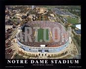 Notre Dame Stadium Aerial Poster