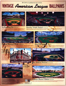 Vintage American League Ballparks Poster