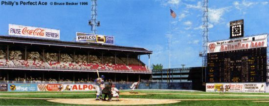 """Philly's Perfect Ace"" Philadelphia Phillies Print"