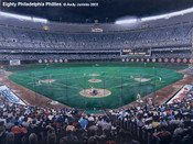 """Eighty Philadelphia Phillies"" Veterans Stadium Print"