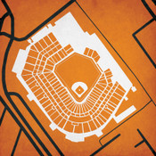 Camden Yards City Print