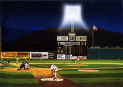 """Last Crosley Pitch"" Cincinnati Reds Print"