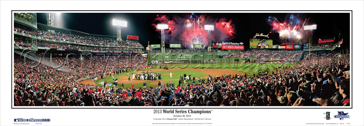 """2013 World Series Champions"" Boston Red Sox Panoramic Poster"