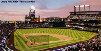 """Coors Field Pitch"" Colorado Rockies Print"