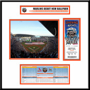 First Game at Marlins Park Ticket Frame Jr