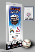 First Game at Marlins Park Mini-Mega Ticket - Miami Marlins
