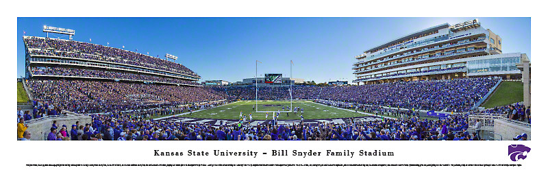 KSU Wildcats At Bill Synder Family Stadium Panorama Poster