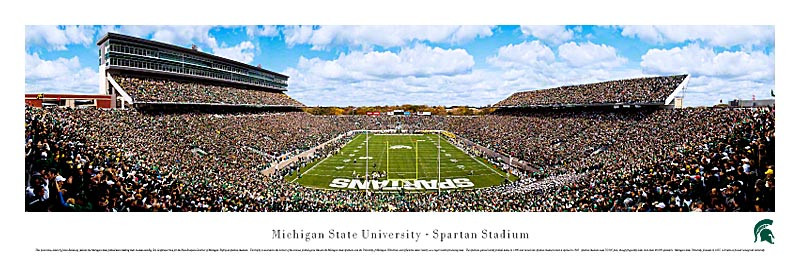 """2014 Rose Bowl"" Michigan State Spartans Panorama Poster"