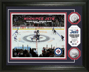 "Winnipeg Jets ""Opening Face Off"" 24kt Gold coin Photo Mint"