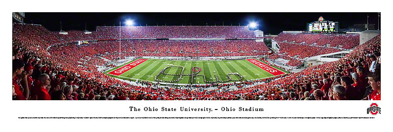 """""""2015 National Champions"""" Ohio State Buckeyes Panorama Poster"""