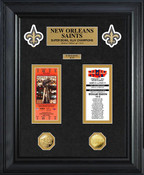 New Orleans Saints Super Bowl Ticket and Game Coin Collection