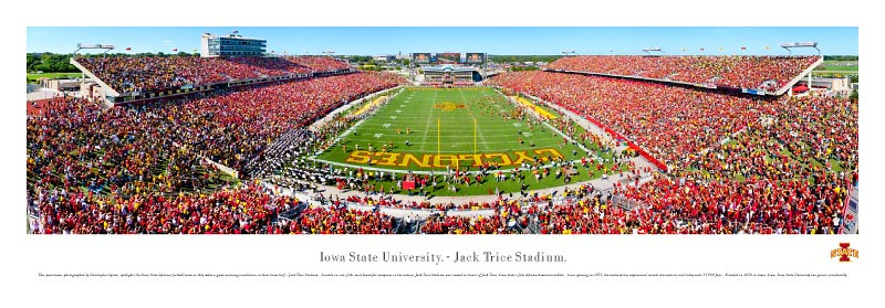 Iowa State Cyclones At Jack Trice Stadium Panorama Poster