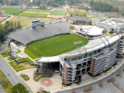 "ECU Pirates at ""Empty"" Dowdy Ficklen Stadium Aerial Poster"