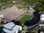 "ECU Pirates ""Gameday"" at Dowdy Ficklen Stadium Aerial Poster"