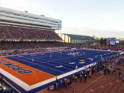"Boise State Broncos ""Gameday"" at Albertsons Stadium Poster"