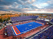 "Boise State Broncos ""Panoramic"" at Albertsons Stadium Poster"