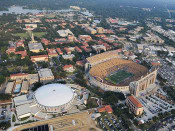 LSU Tigers at Tiger Stadium Aerial Poster