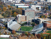 Vanderbilt Commodores at Vanderbilt Stadium Aerial Poster