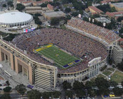 LSU Tigers at Tiger Stadium Aerial Poster 1
