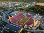 Utah Utes at Rice Eccles Stadium Aerial Poster