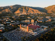 Utah Utes at Rice Eccles Stadium Aerial Poster 1
