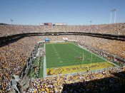 "Arizona State Sun Devils ""EndZone"" at Sun Devil Stadium Poster"