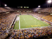 "Arizona State Sun Devils ""Night Game"" at Sun Devil Stadium Poster"