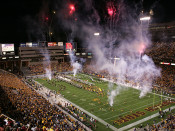 "Arizona State Sun Devils ""Entrance"" at Sun Devil Stadium Poster"