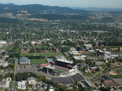 Oregon State Beavers at Reser Stadium Aerial Poster 1