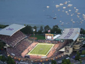 Washington Huskies at Husky Stadium Aerial Poster