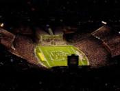 Jack Trice Stadium at Night Aerial Poster