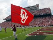 OU Flag in Memorial Stadium Poster