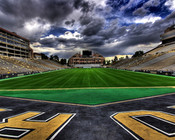 "Colorado Buffaloes ""Field View"" at Folsom Field Poster"