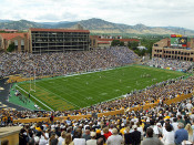 "Colorado Buffaloes ""Panoramic"" at Folsom Field Poster"