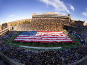 Flag Covers Folsom Field Poster