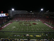 """Cincinnati Bearcats """"50 Yard Line"""" at Nippert Stadium Poster"""