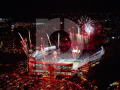 Virginia Tech Hokies at Lane Stadium Aerial Poster