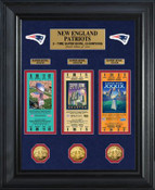 New England Patriots Super Bowl Ticket and Game Coin Collection