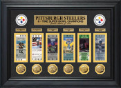 Pittsburgh Steelers Super Bowl Ticket and Game Coin Collection