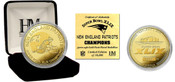 New England Patriots Super Bowl XLIX Champions Gold Mint Coin