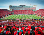 Nebraska Cornhuskers at Memorial Stadium Poster